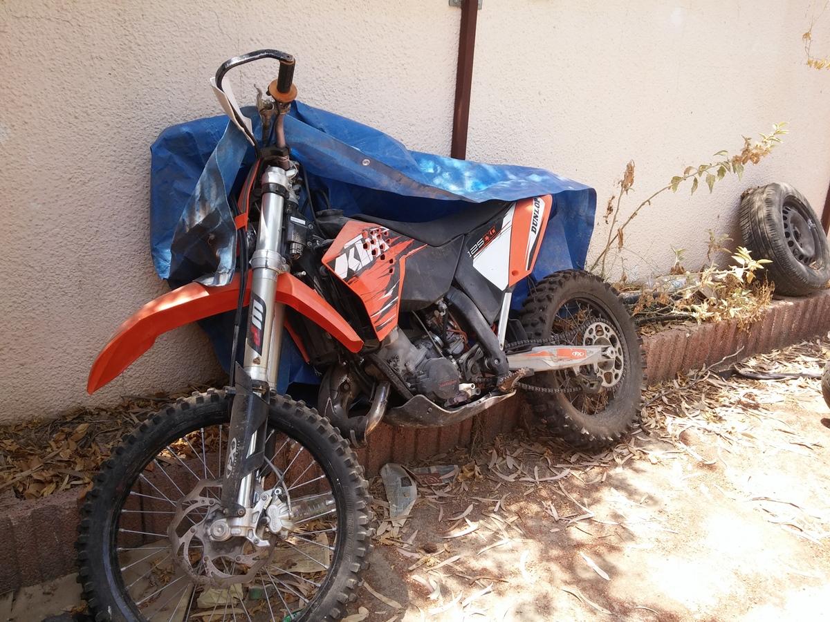 האופנוע עומד במשטרת באר שבע