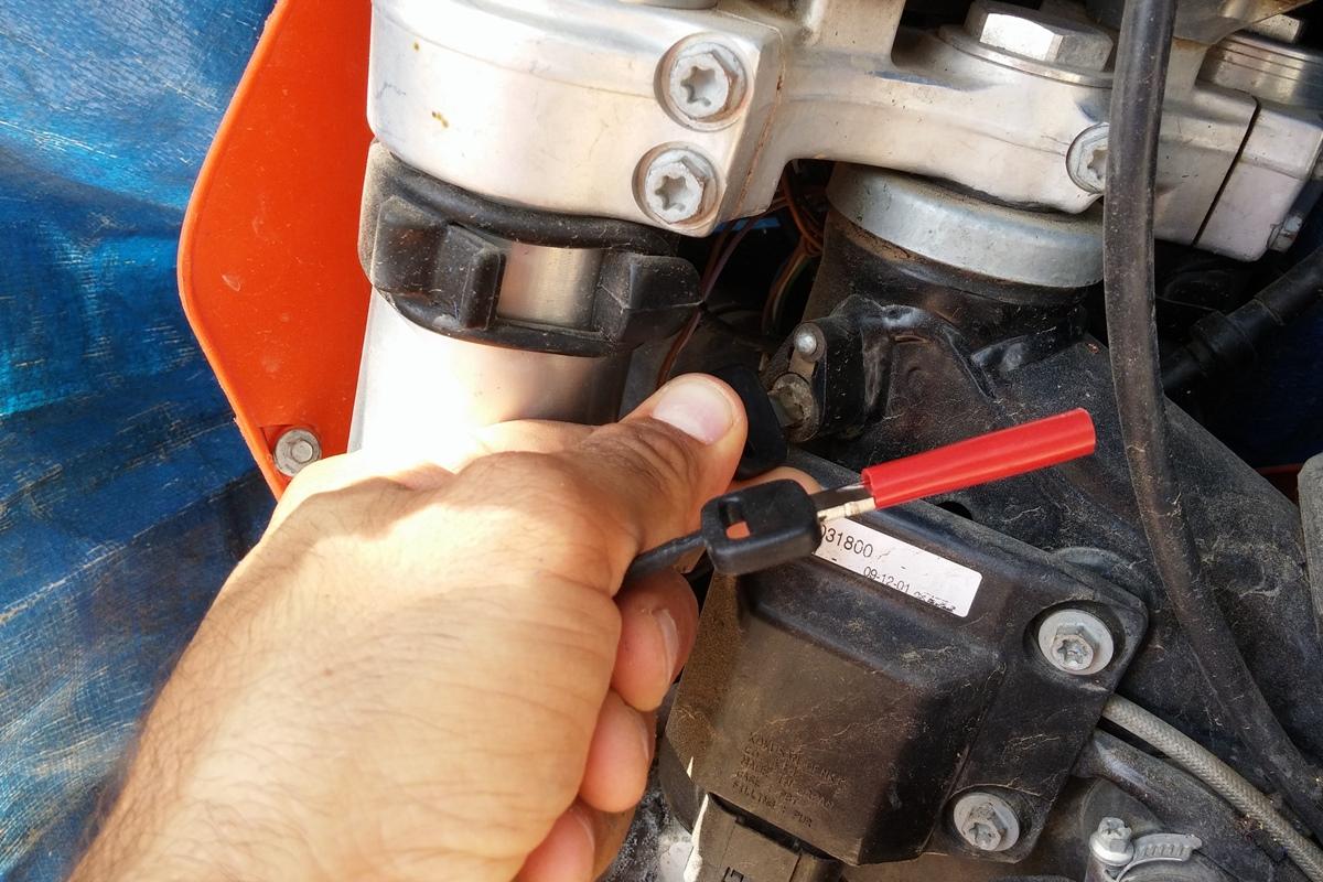 המפתח המקורי פותח את מנעול הכידון; במשטרת באר-שבע