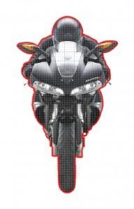 שטח פנים של אופנוע סופרספורט מודרני