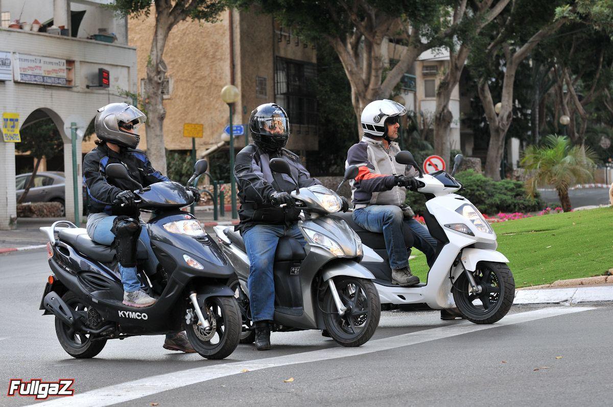"""שלישיית קטנועי 125 סמ""""ק 'זולים פלוס'"""