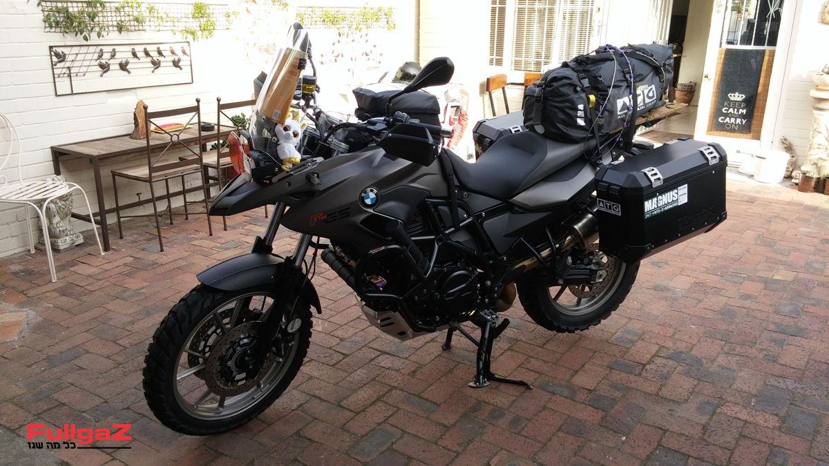 הב.מ.וו F700GS שלי מוכן ומזווד למסע