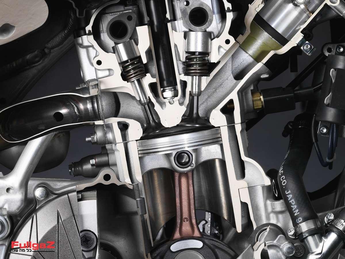 """יחס דחיסה - היחס בין נפח המנוע בנמ""""ת לבין נפח המנוע בנמ""""ע"""