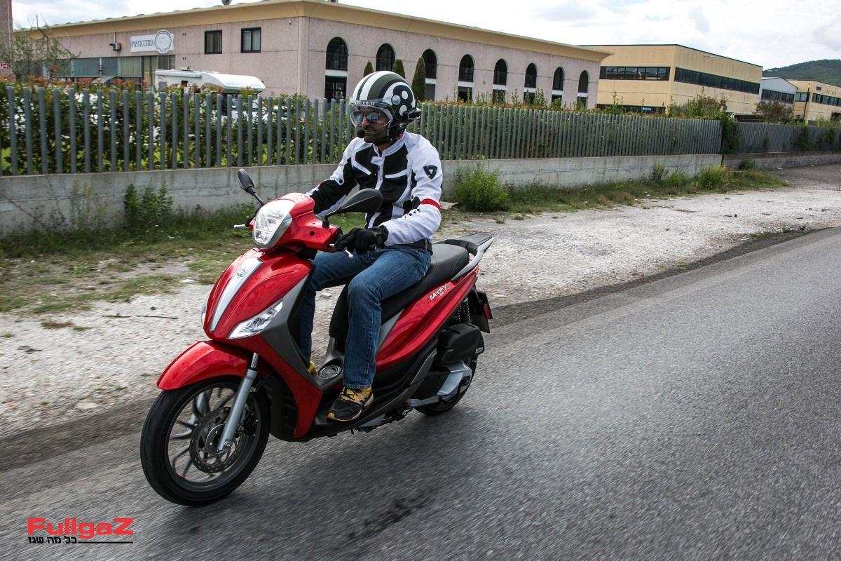 פיאג'ו מדלי 125 - גלגלים גדולים