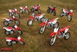Dakar (CRF450 Rally), CRF450X, CRF250X, CRF450R, CRF250R, CRF150R, CRF250L, CRF250M, CRF125F, CRF110F and CRF50F