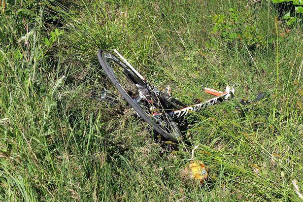 האופניים של היידן לאחר הפגיעה