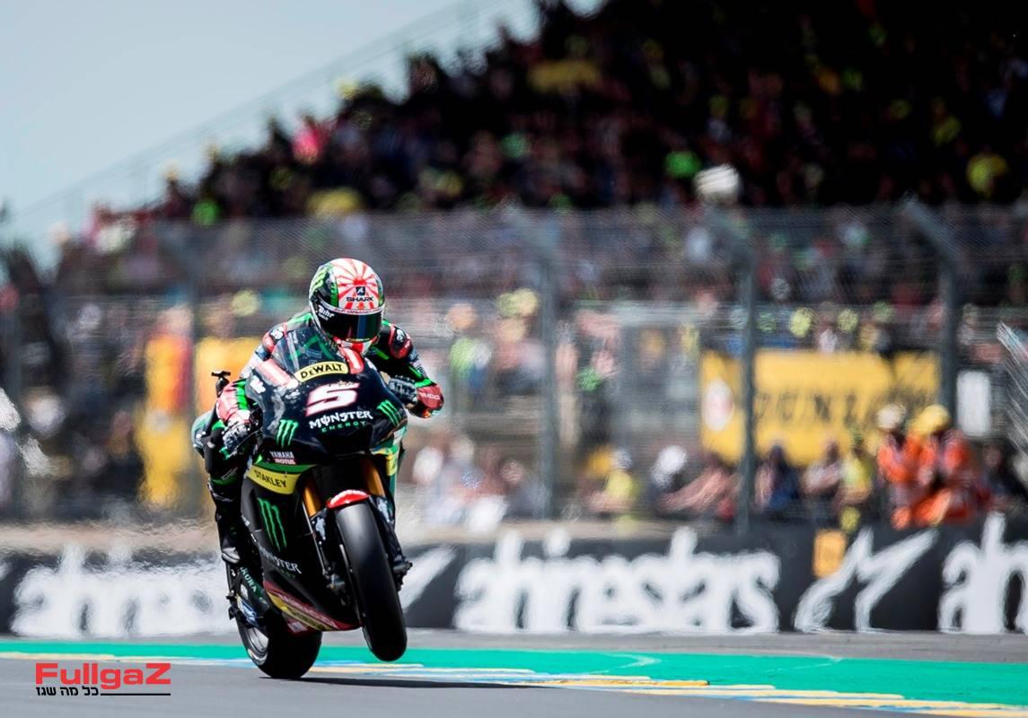 יוהאן זרקו - פעמיים אלוף Moto2 נותן בראש על אופנוע לוויין