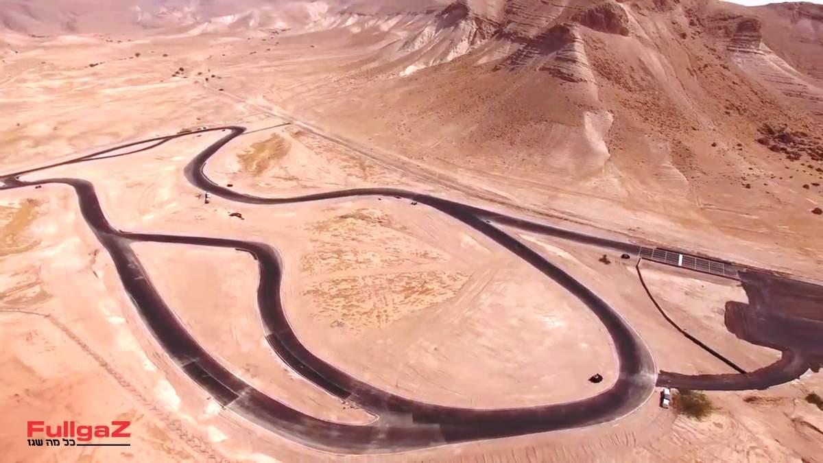 תוואי המסלול בפצאל (צילום מסך מיוטיוב)