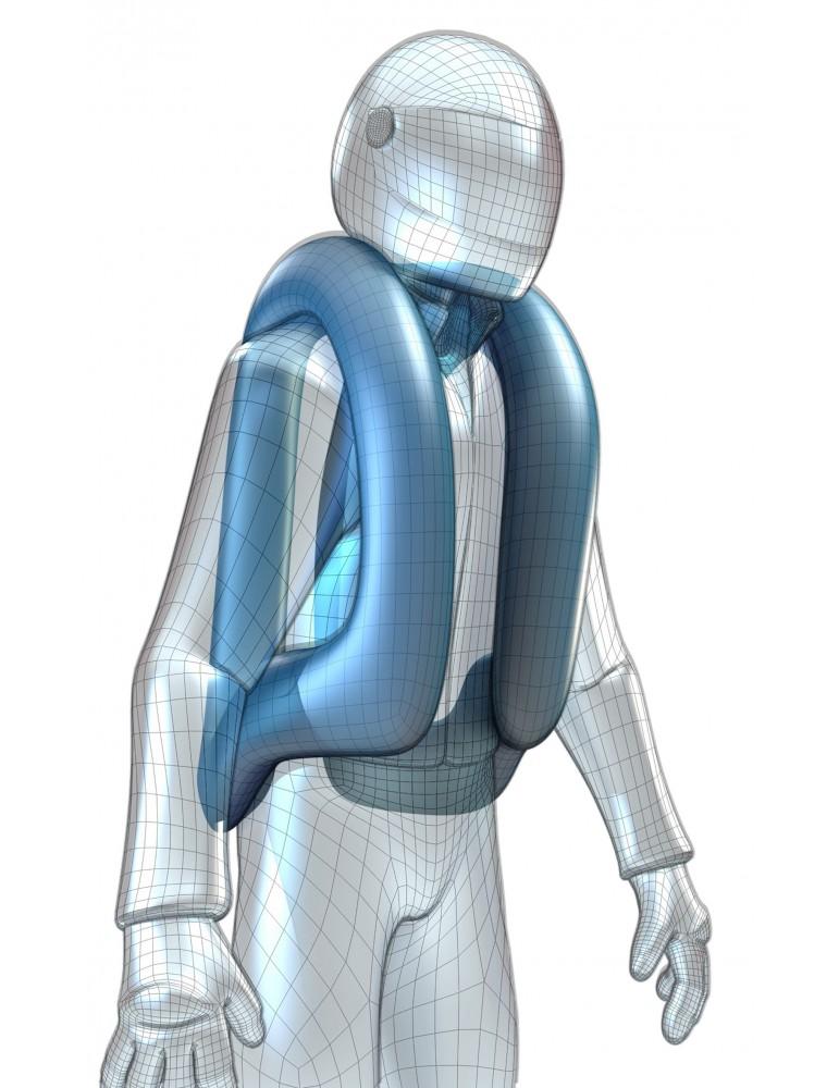 כרית אוויר המתנפחת בעת תאונה ומגנה על פלג גופו העליון של הרוכב