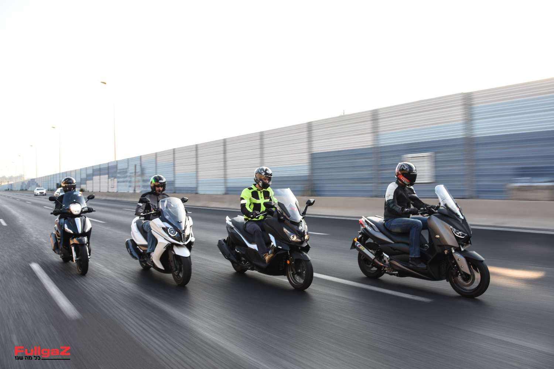 """רביעיית קטנועי ה-300 סמ""""ק שלנו"""