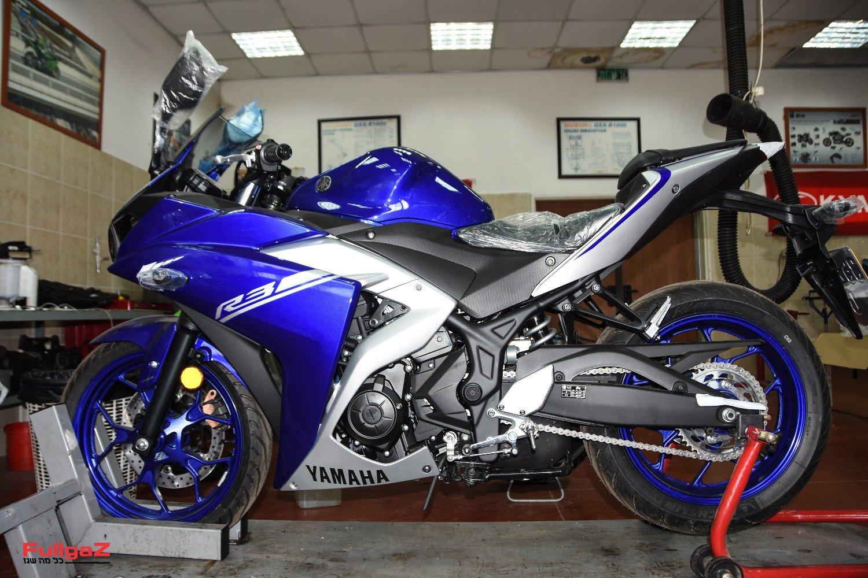 האופנוע על הליפט - אפשר להתחיל לעבוד