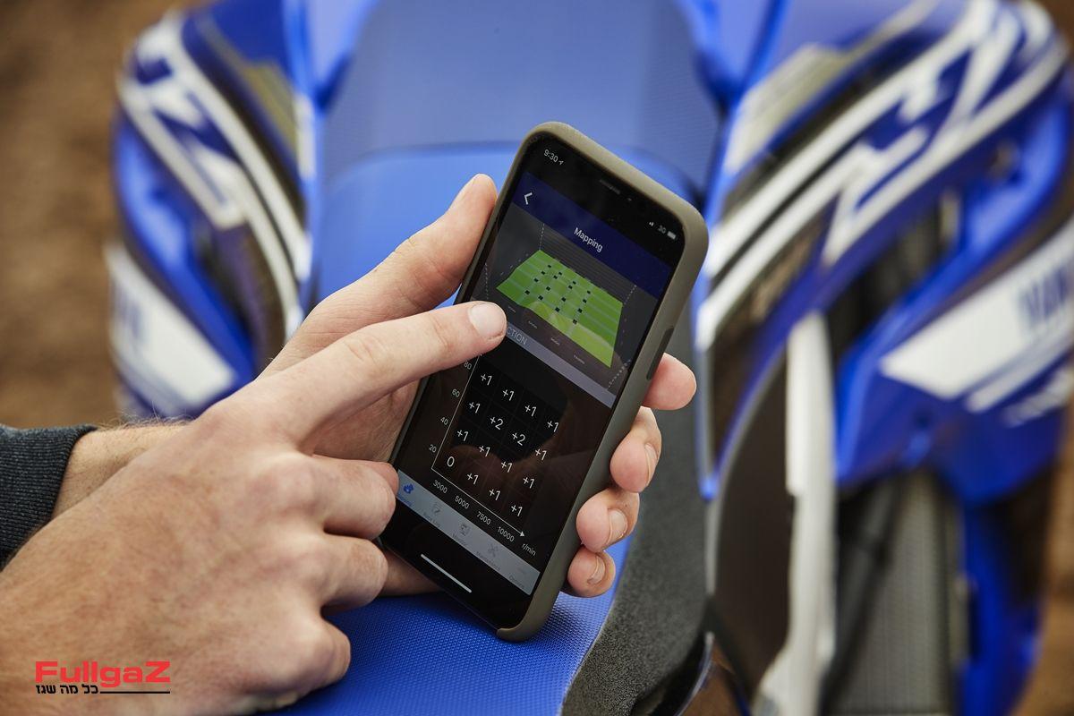 אפליקציה לאבחון וכיוון המנוע - כמו ב-YZ450F