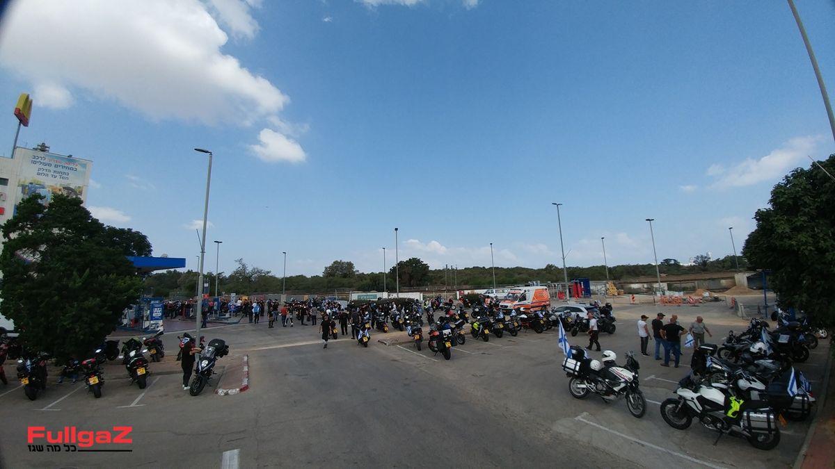 יותר מ-150 רוכבים הגיעו להביע תמיכה