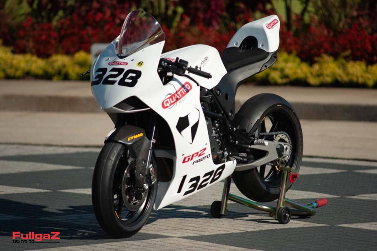 """אופנוע מרוץ אקזוטי ששוקל 140 ק""""ג"""