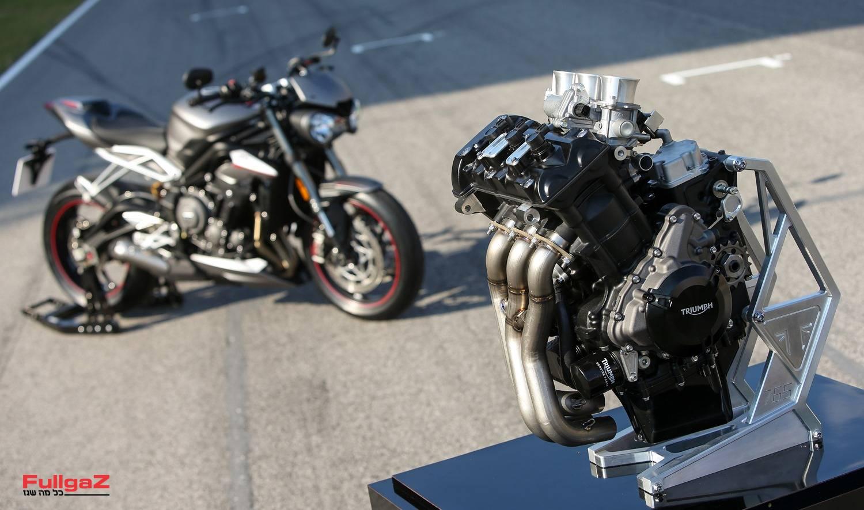 """מנוע הטריפל 765 - מפיק יותר מ-135 כ""""ס בגיר"""