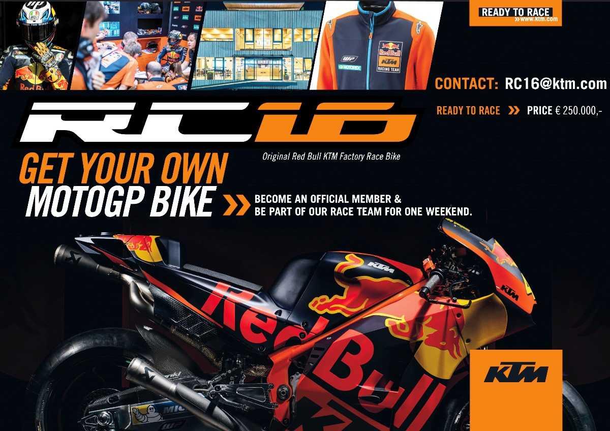 2018 MotoGP KTM RC16 Sale