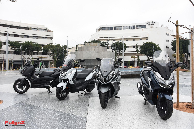 """ארבעת קטנועי ה-300 סמ""""ק 2019 הנמכרים בישראל"""