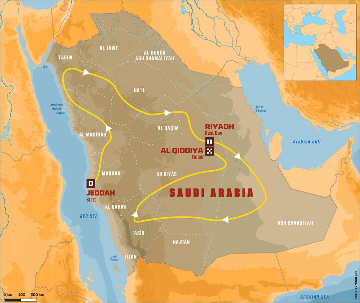 Dakar 2020 Route
