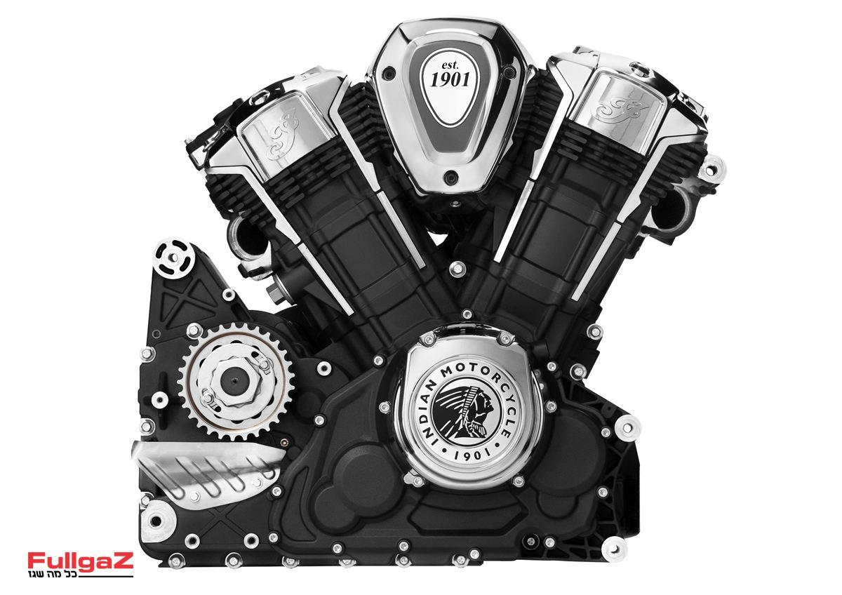 """המנוע החדש של אינדיאן - בנפח 1,800 סמ""""ק"""