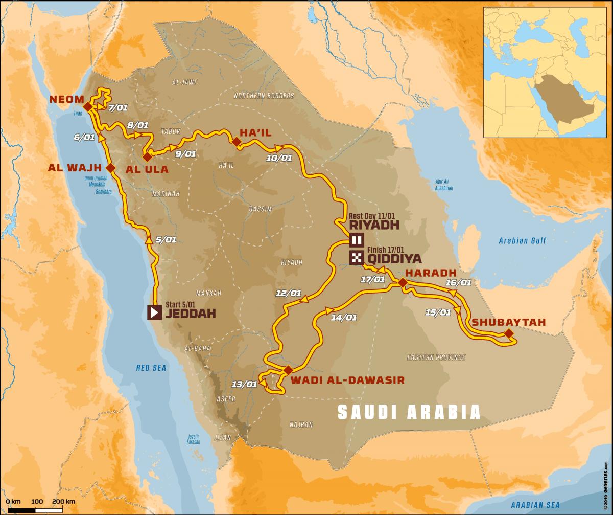 מסלול דקאר 2020 בסעודיה