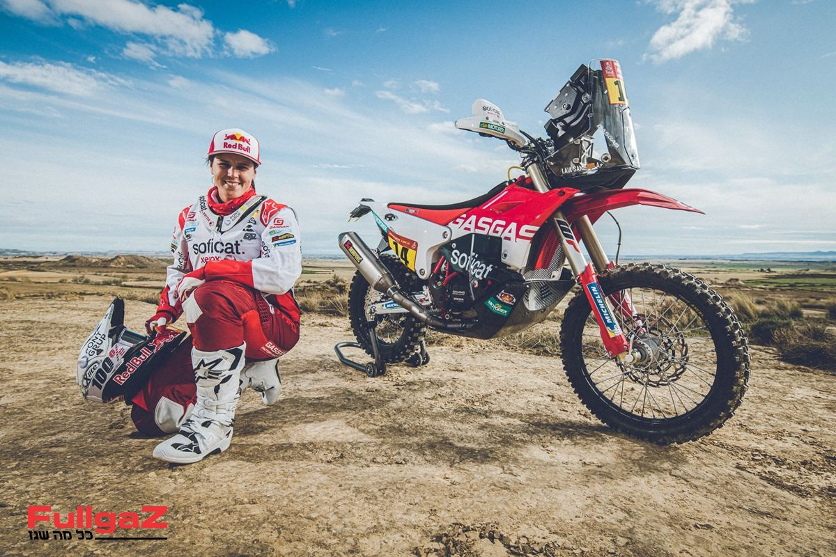גאס גאס 450 ראלי - אותו אופנוע, רק באדום-לבן