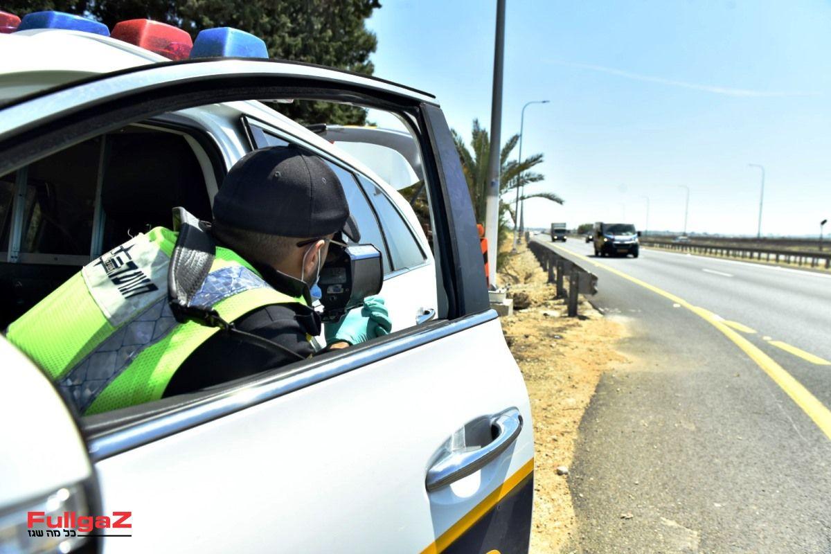 השוטר חייב לשמור על קשר עין עם הרכב הנמדד