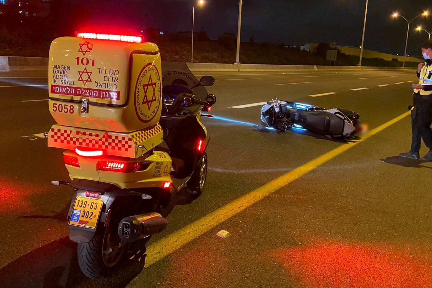 זירת התאונה בכביש 471 שבה נהרגה הילדה בת ה-12