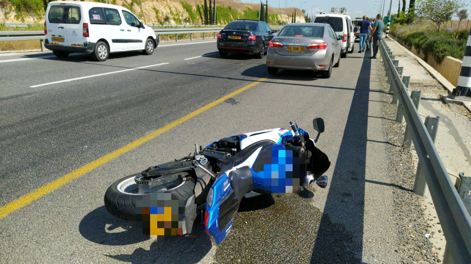 זירת התאונה בכביש 79 שבה נהרג הרוכב בן ה-24