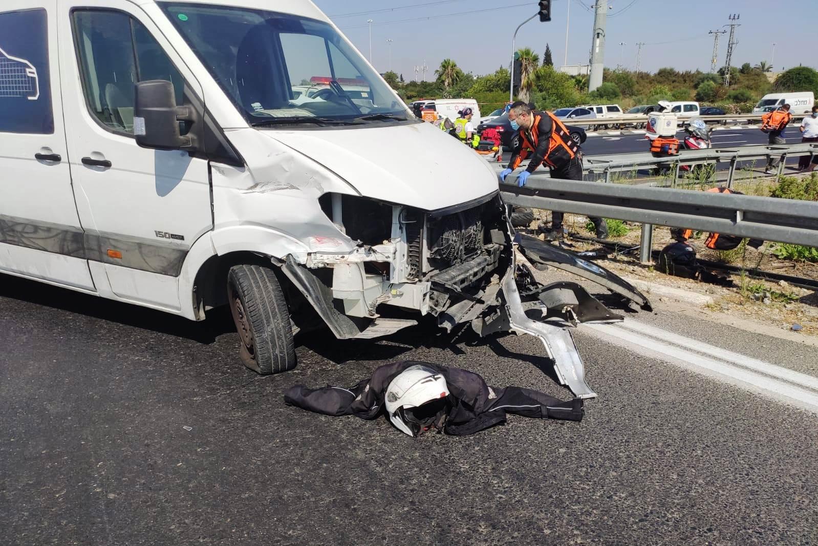 זירת התאונה במחלף השבעה