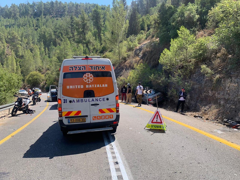 """זירת התאונה בכביש 386 - הפנייה המתהדקת - שבה נהרג בר מזרחי ז""""ל"""