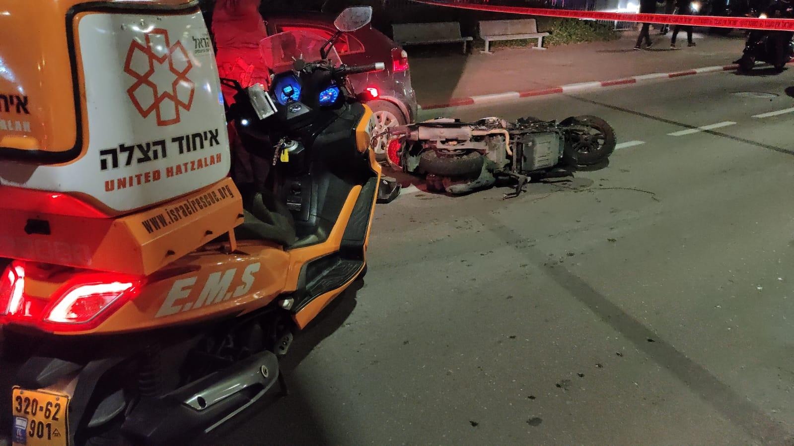הקטנוע שעליו נהרג בבת-ים הרוכב בן ה-19