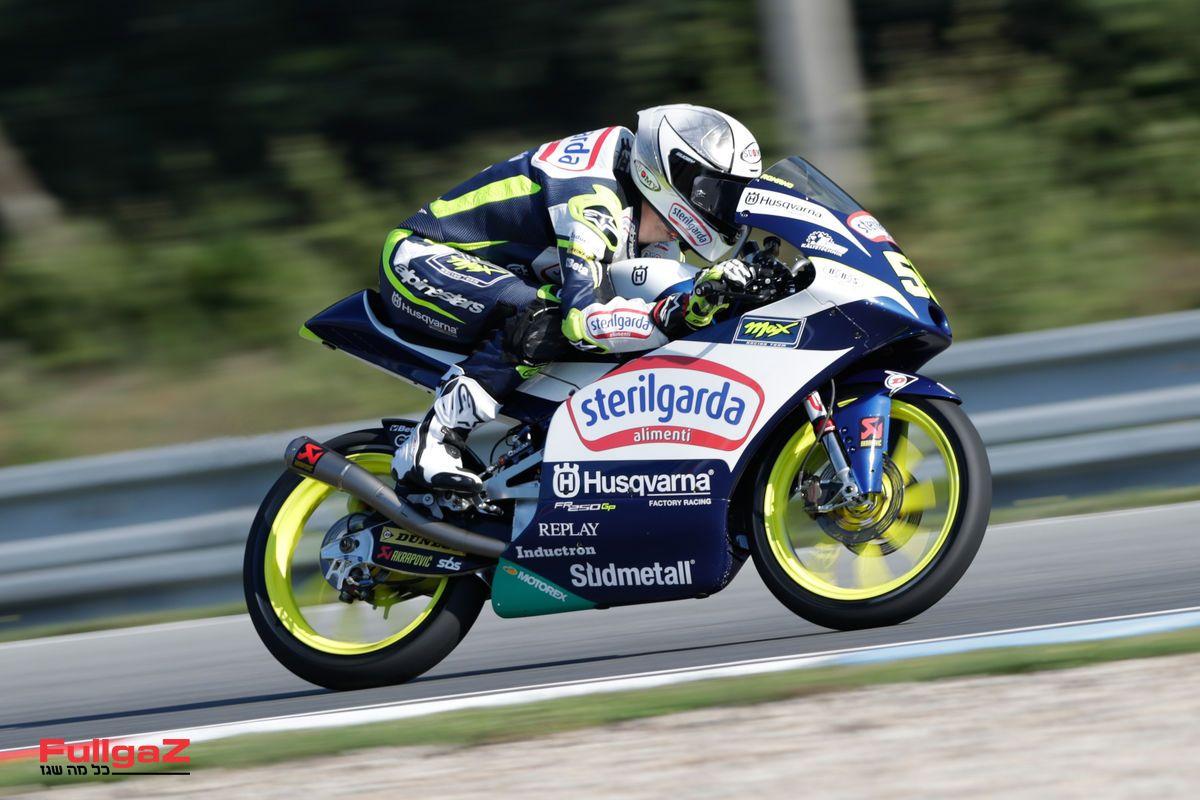 קבוצת הוסקוורנה ב-Moto3 - ק.ט.מ בלבן-כחול-צהוב