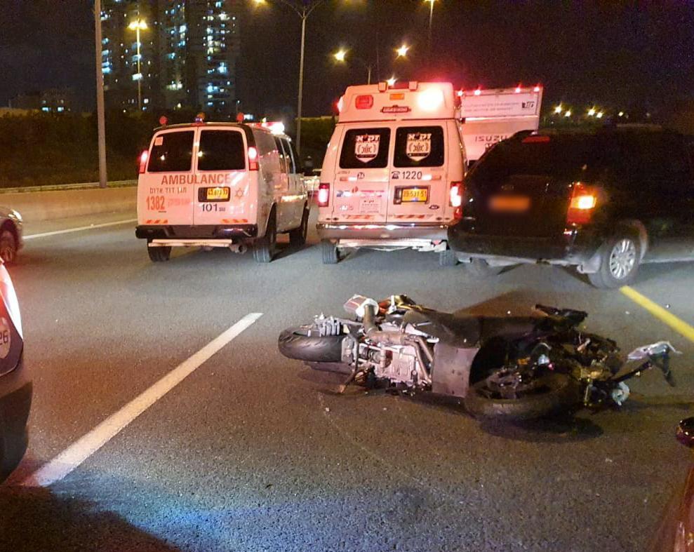 זירת התאונה בכביש 471 שבה נהרג הרוכב בן ה-25