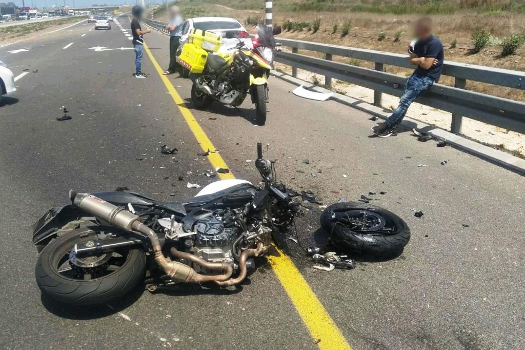 זירת התאונה שבה נפגע הרוכב בן ה-30