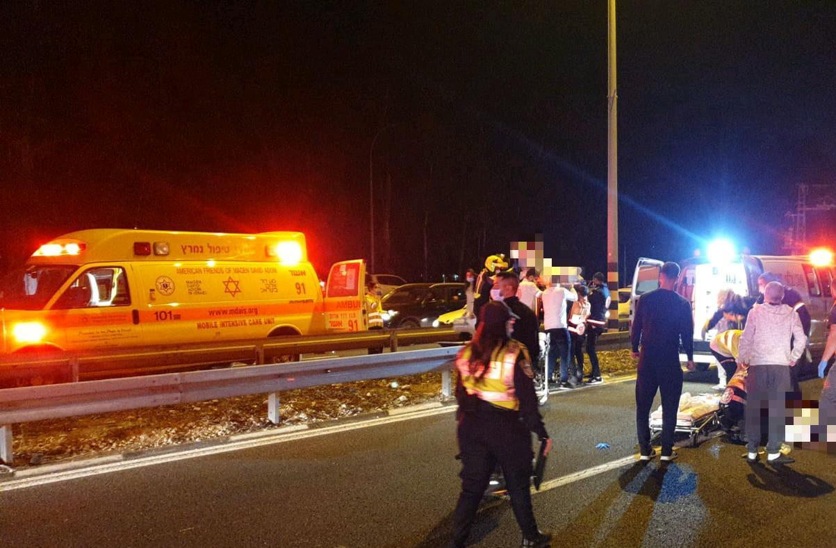 זירת התאונה בעין המפרץ שבה נהרג הרוכב בן ה-25