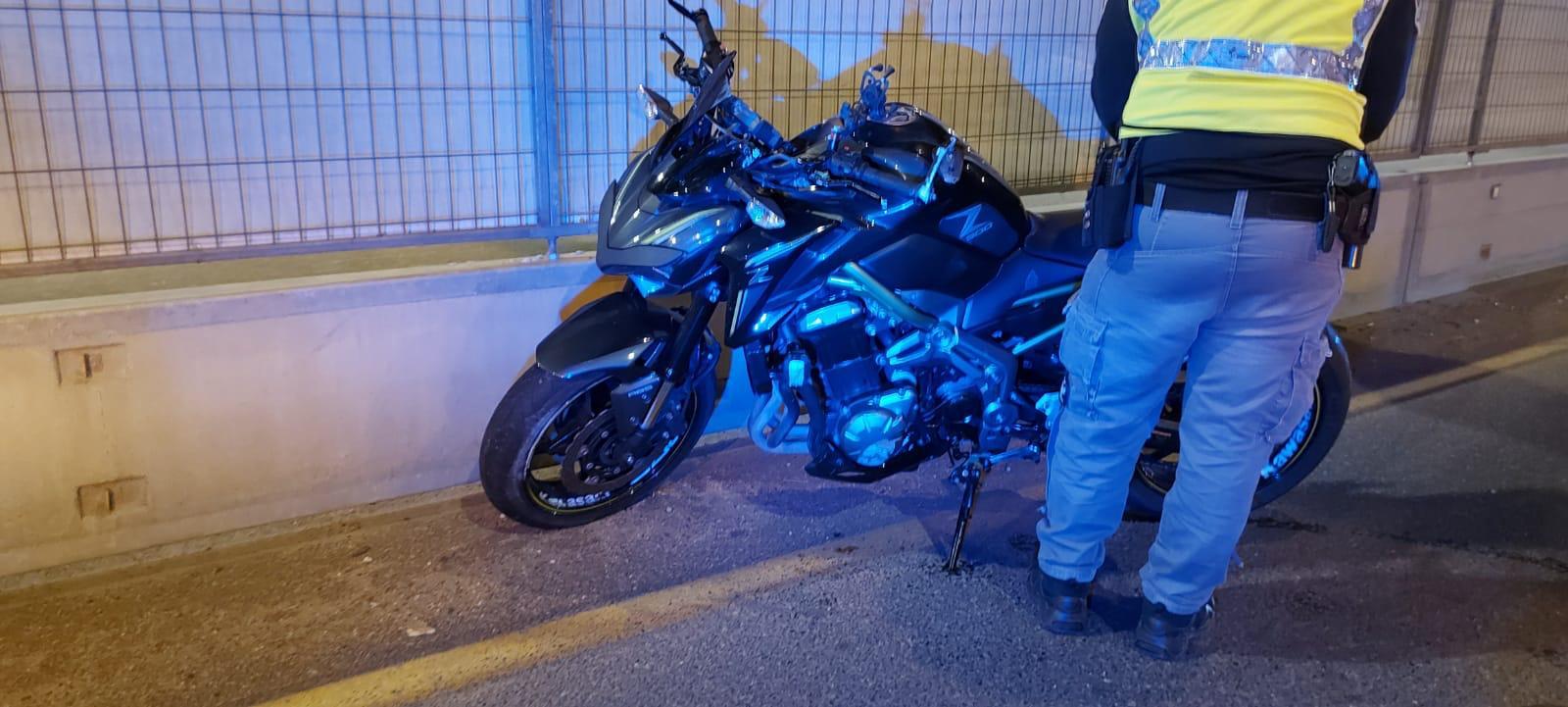 האופנוע שעליו נהרג הרוכב בן ה-19