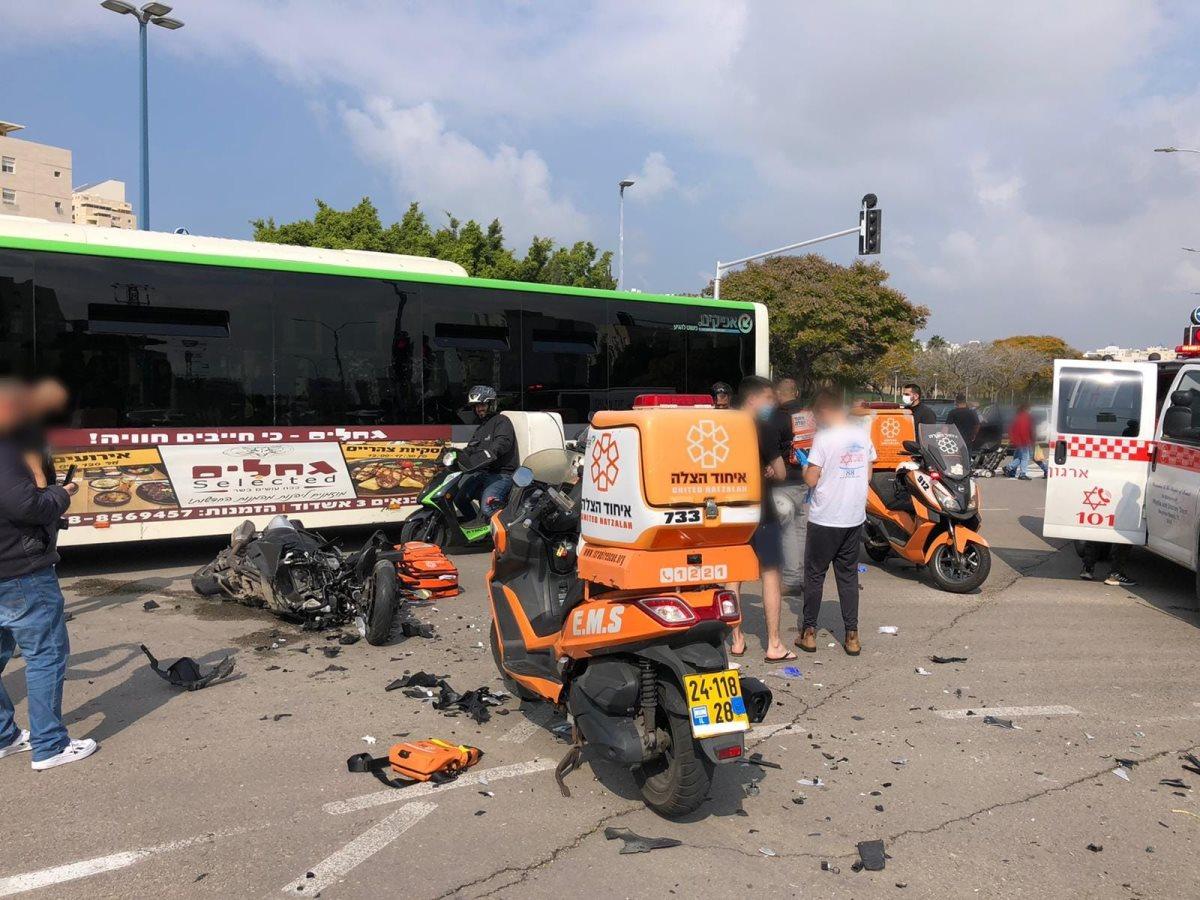 זירת התאונה שבה נהרג הרוכב בן ה-22 באשדוד