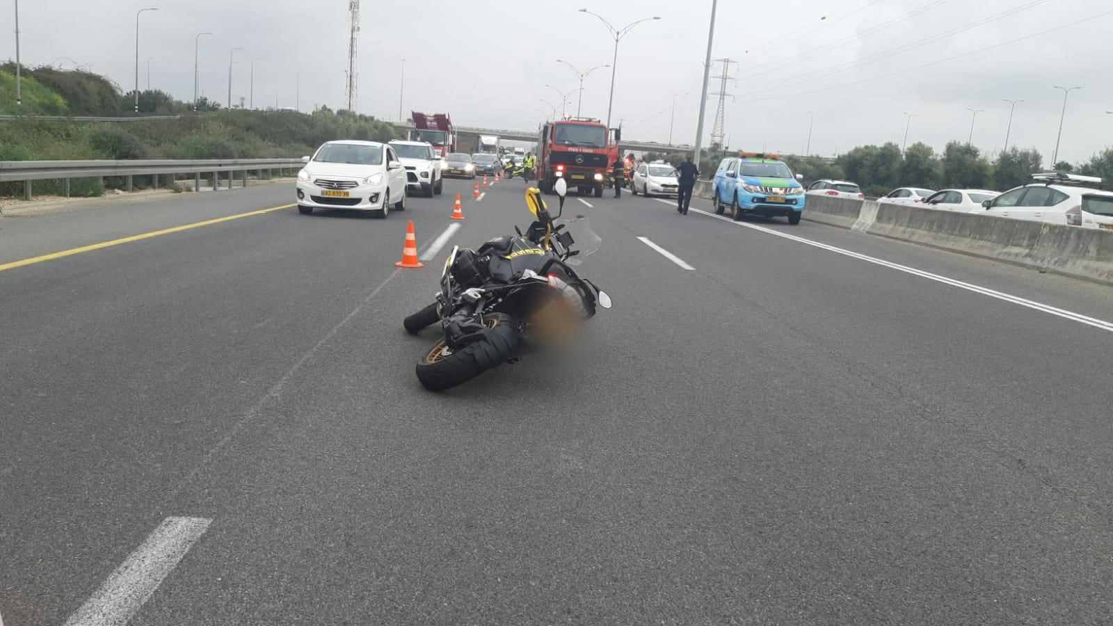 זירת התאונה שבה נהרג הרוכב בן ה-30 בכביש 471