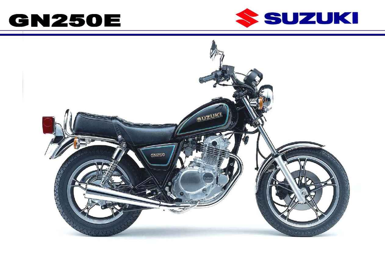 סוזוקי GN250E בכרזה המקורית של סוזוקי