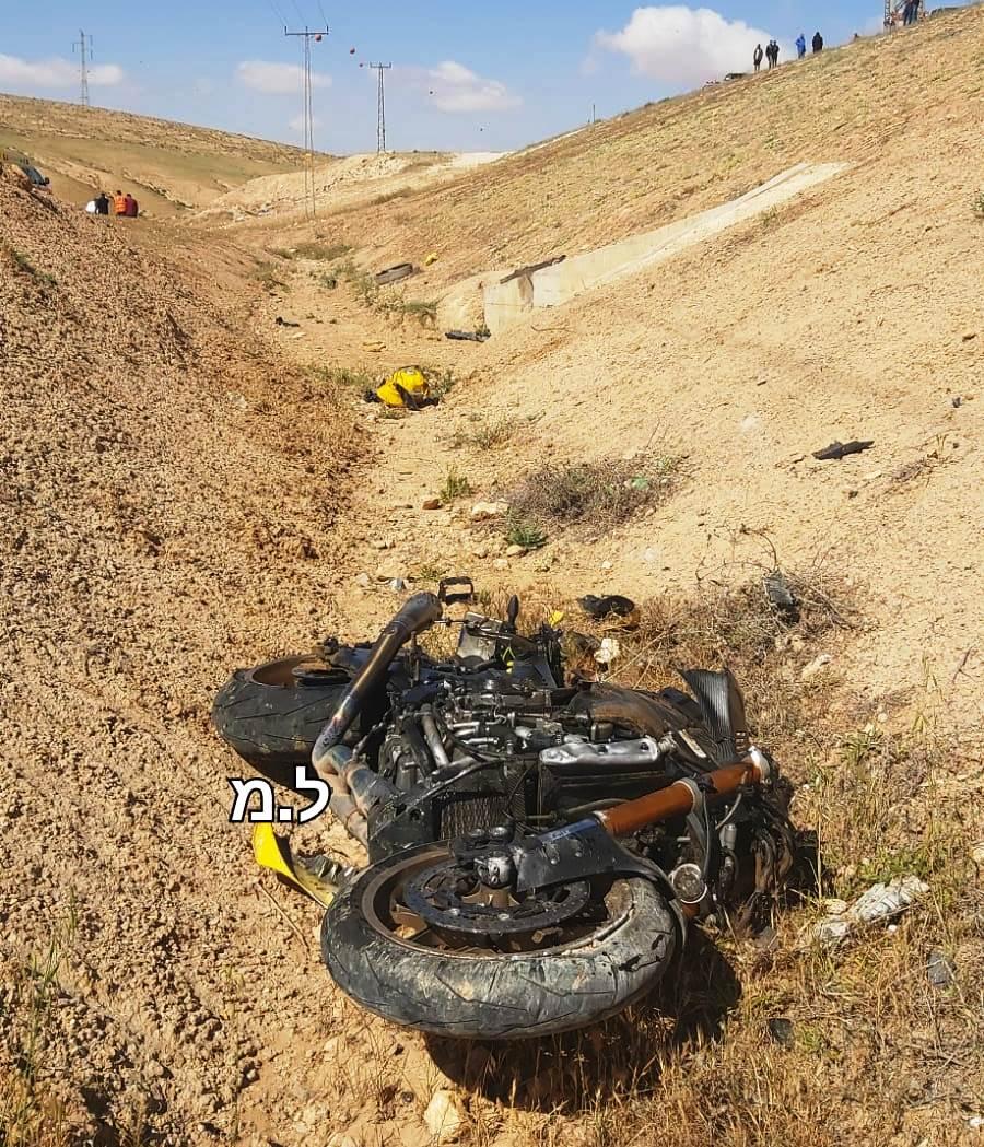 הוואדי בסמוך לכביש 31 - זירת התאונה שבה נהרג הרוכב בן ה-35