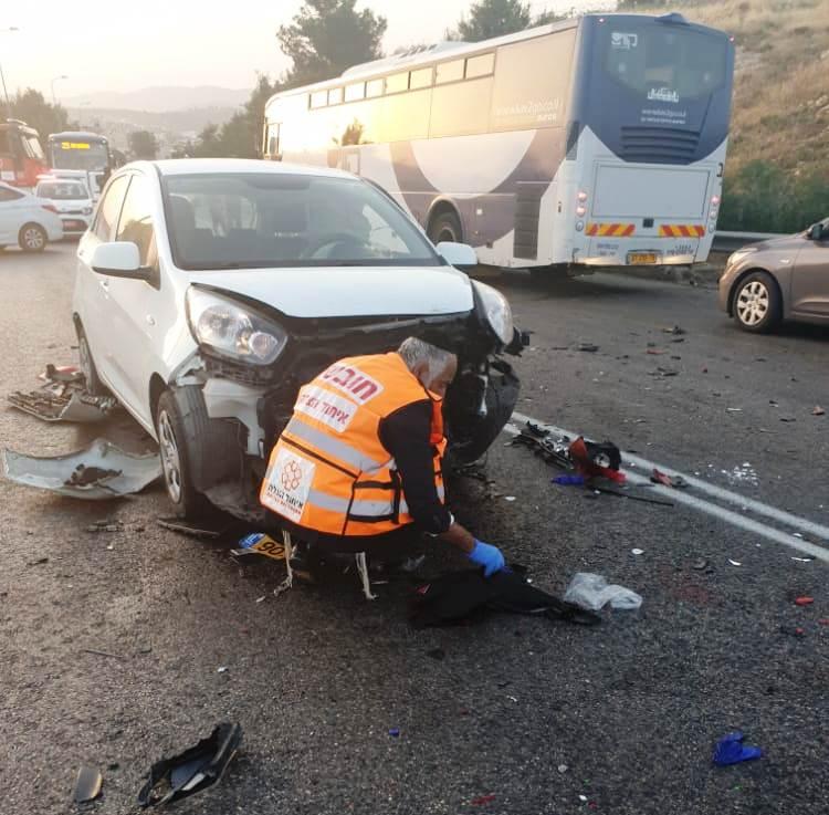 זירת התאונה בכביש 375 שבה נהרג הרוכב בן ה-27