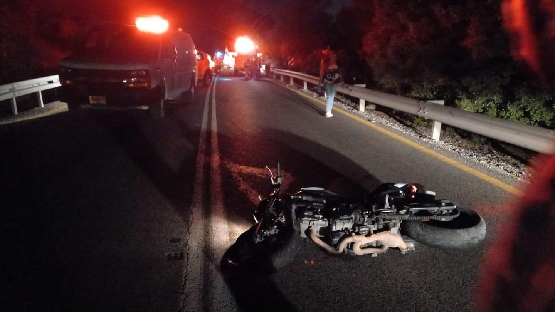 זירת התאונה בכביש 375 שבה נהרג הרוכב בן ה-26