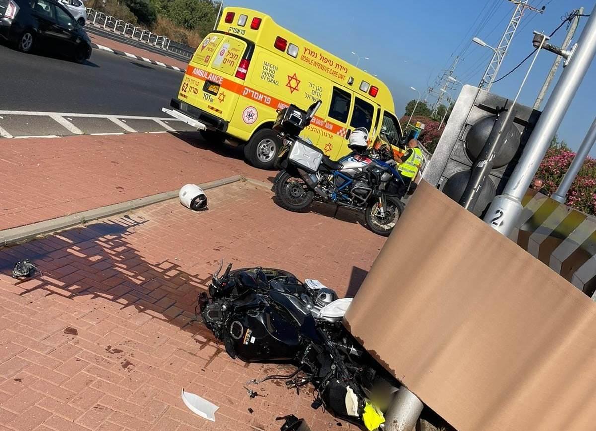 זירת התאונה בכביש 533 שבה נהרג הרוכב בן ה-48