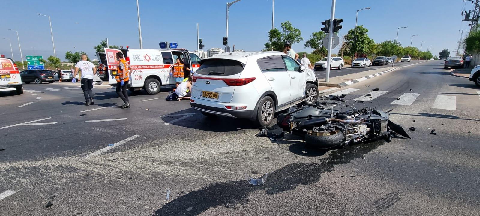 """זירת התאונה שבה נהרג הרוכב בן ה-34 בראשל""""צ"""