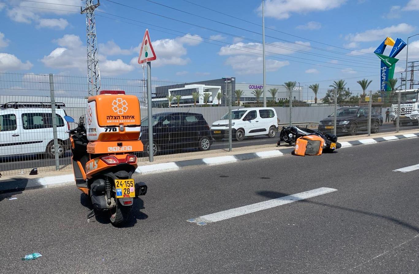 זירת התאונה בכביש 44 שבה נהרג הרוכב בן ה-41
