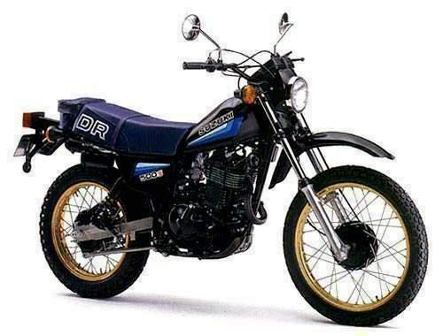 סוזוקי DR500S - כאן כבר בגרסת 82 עם הפנס העגול