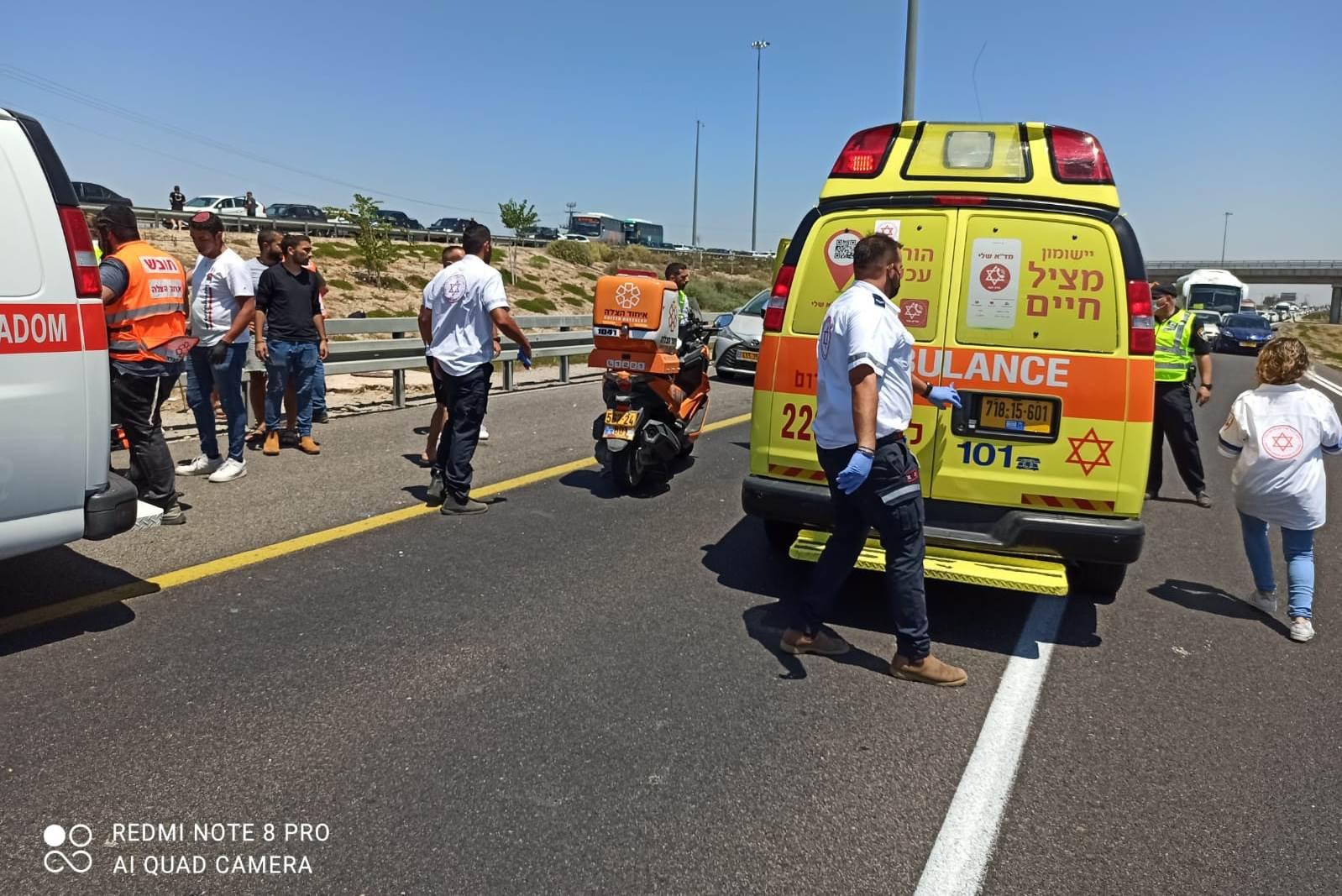 זירת התאונה שבה נהרג הרוכב בן ה-30