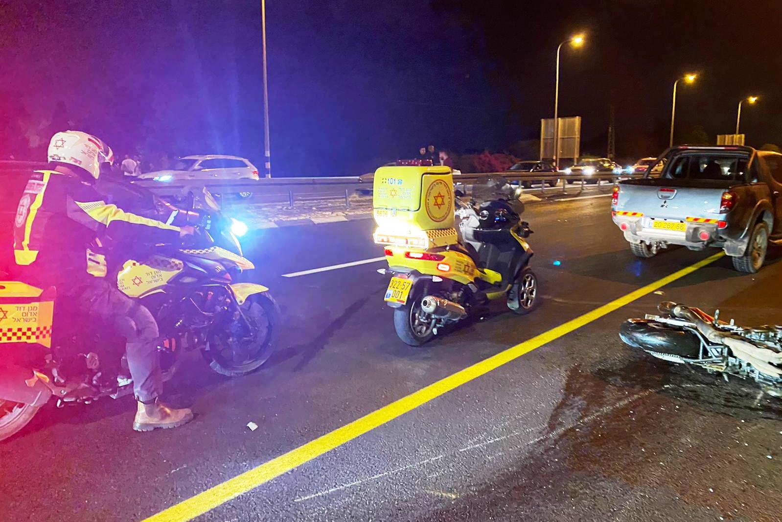 זירת התאונה שבה נהרג הרוכב בן ה-34